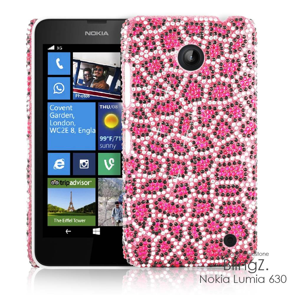 Strass Diamant Luxus Bling Bling Handy Case Cover Hülle Etui f. Nokia Lumia 630