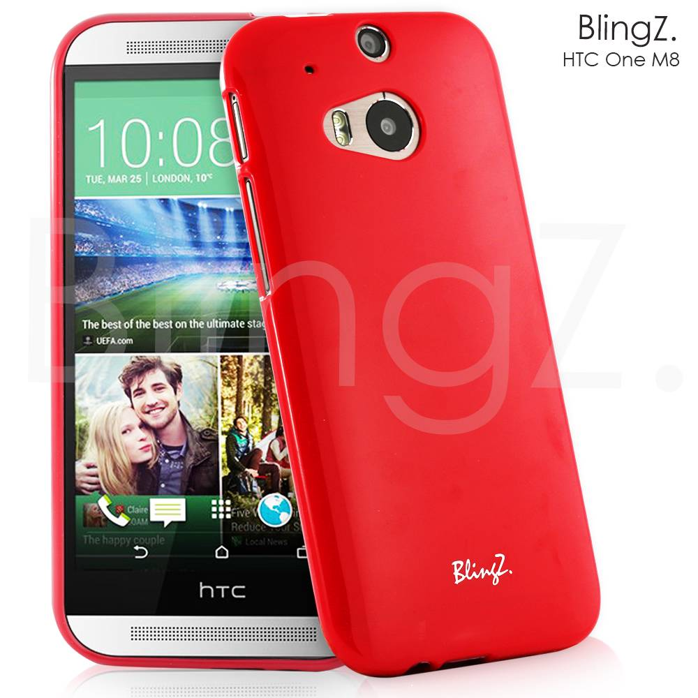 NEW JELLY SILICONE SLIM TPU RUBBER GEL CASE COVER FOR HTC ONE M8