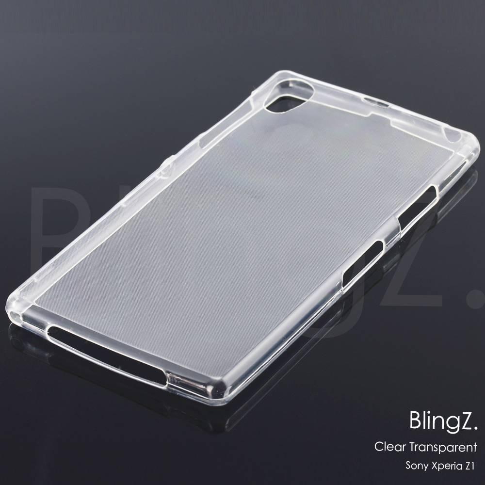 Neu Sony Xperia Z1 Z2 M2 Klar TPU Silikon Handy Hülle Tasche Cover Case Etui
