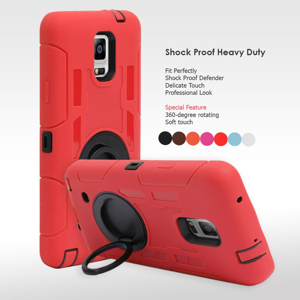 Heavy Duty Armour Shock Proof Hard Case 360 Degree Stand Samsung Galaxy Note 4