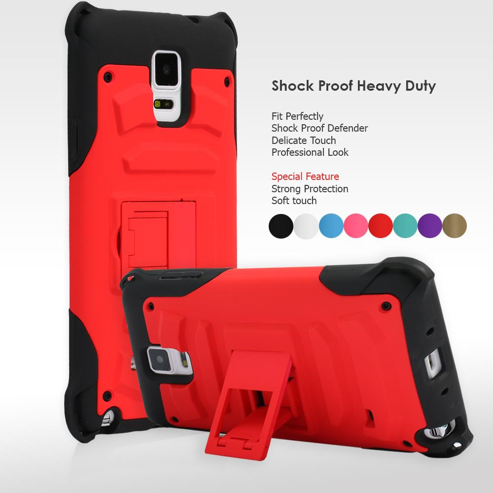 Heavy Duty Armour Shock Proof Silicone Case With Stand Samsung Galaxy Note 4
