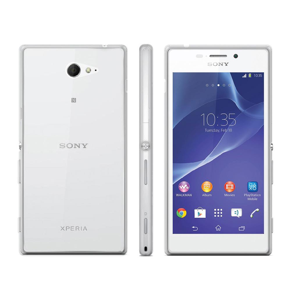 New Ultra Slim Silicone Crystal Clear Transparent Case Cover for Sony Xperia M2