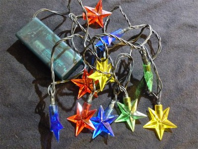 Light Up Ugly Christmas Sweater Lights for Any Sweater Colored Star