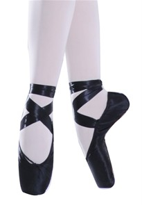 ballet pointe shoes black comes with ribbon ebay