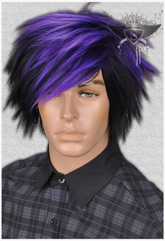 the gallery for gt dark purple hair men