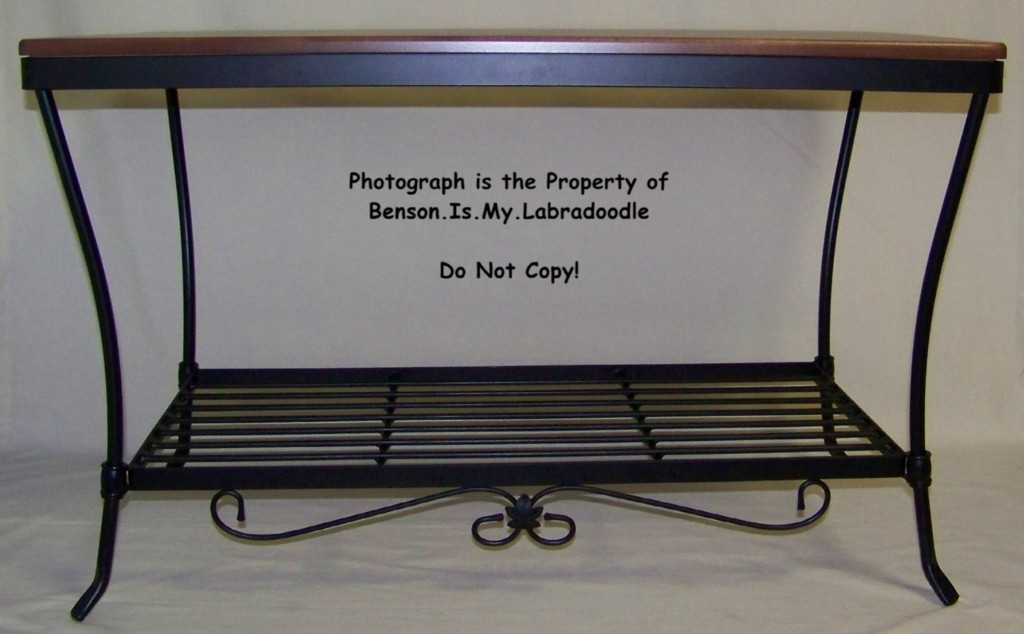 Longaberger Foyer Bench : Longaberger wrought iron foyer bench rich brown top ebay