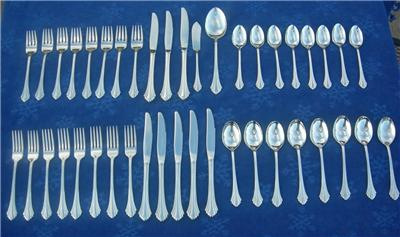 ONEIDA BANCROFT or FORTUNE 1 SOUP PLACE SPOON STAINLESS FLATWARE