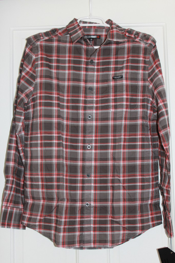 WILLIAM-RAST-Target-Mens-Millington-Plaid-Shirt-Orange