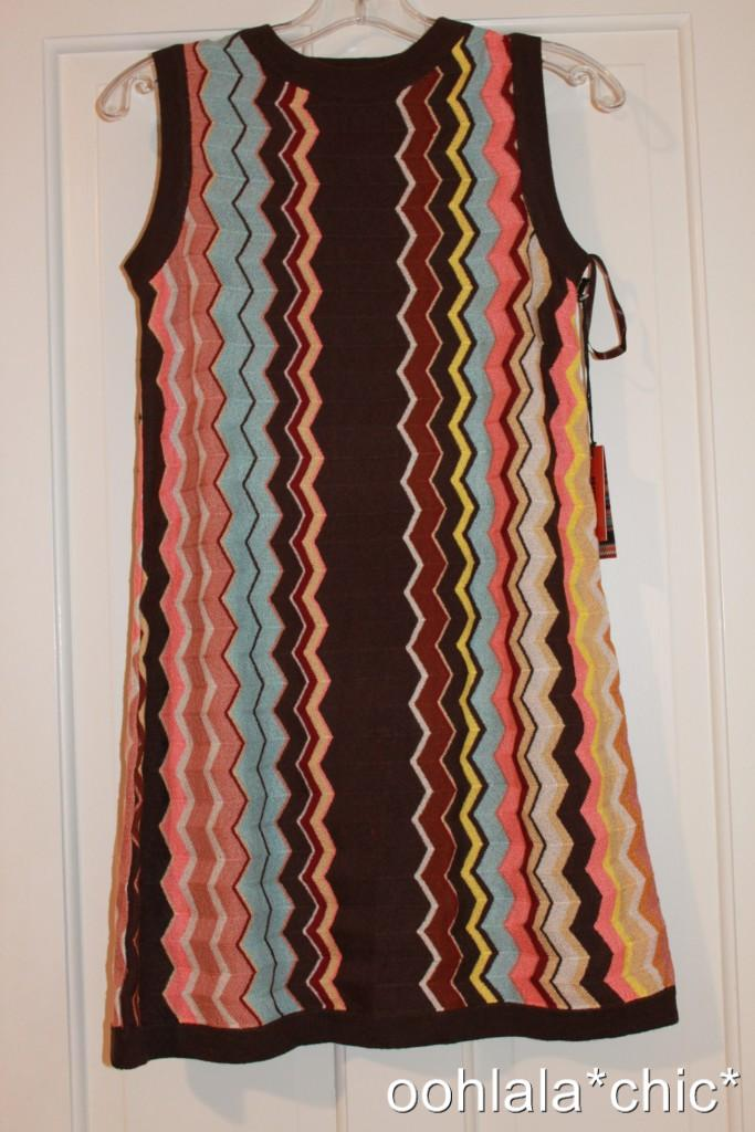 MISSONI-For-Target-Womens-Multicolor-Brown-Zig-Zag-Sleeveless-Sweater-Dress