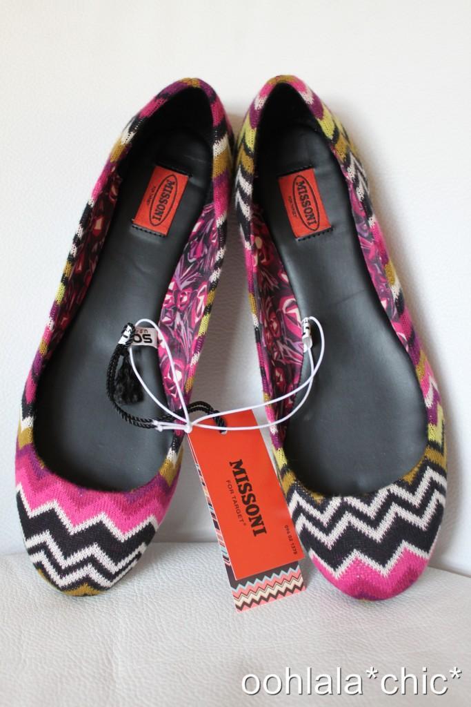 MISSONI-FOR-TARGET-Women-039-s-Knit-Zig-Zag-Ballet-Flats-Shoes-Purple-Fuschia-Multi