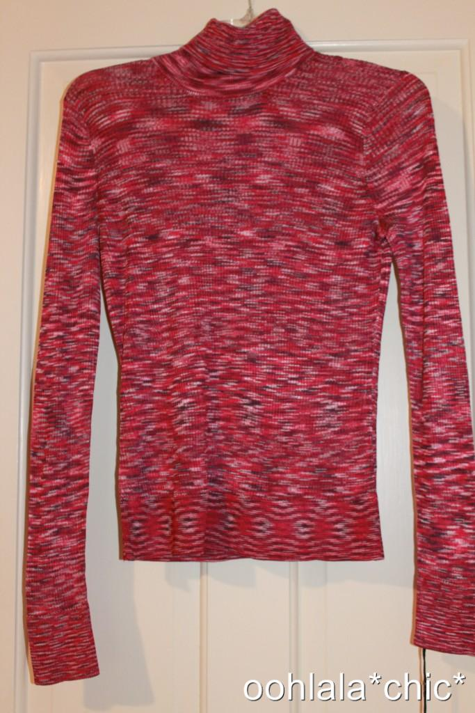 MISSONI-FOR-TARGET-Spacedye-Space-Dye-Knit-Turtleneck-Sweater-Top-Pink-Passione