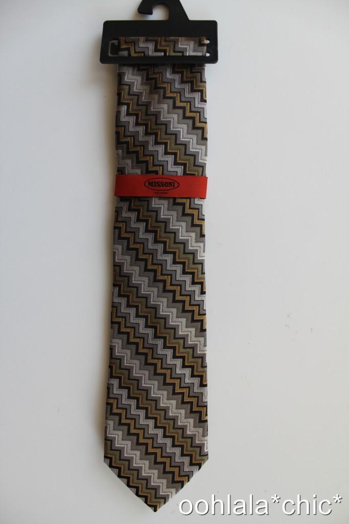 MISSONI-FOR-TARGET-Men-039-s-Silk-Tie-Variations-Zig-Zag-Chevron-Purple-Blue-Multi