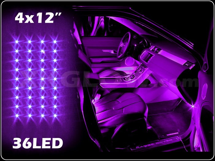 purple 36led car interior seat dashboard trunk underglow neon accent light 2zone ebay. Black Bedroom Furniture Sets. Home Design Ideas