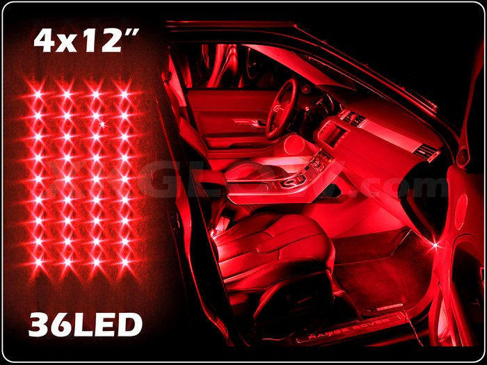 New 4pc Red Led Slim Interior Light Kit For All Cars W Accent Neon Glow 3 Mode Ebay