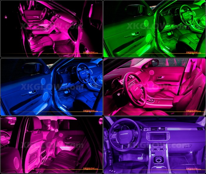 pink 36 led car truck atv neon accent interior light kit w breath strobe mode ebay. Black Bedroom Furniture Sets. Home Design Ideas