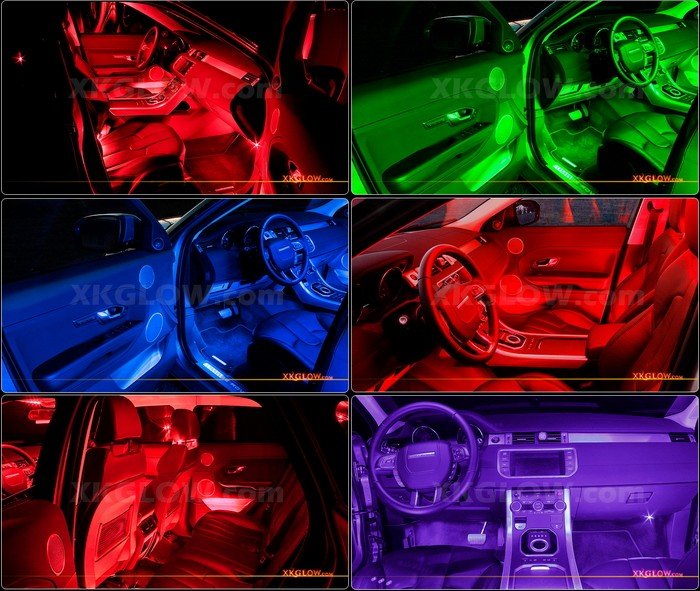 Red 36 Led Car Interior Seat Dashboard Trunk Underglow