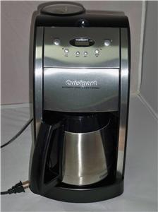 Cuisinart Grind And Brew Coffee Maker White : Cuisinart DGB 600BC Grind and Brew Coffee Maker eBay