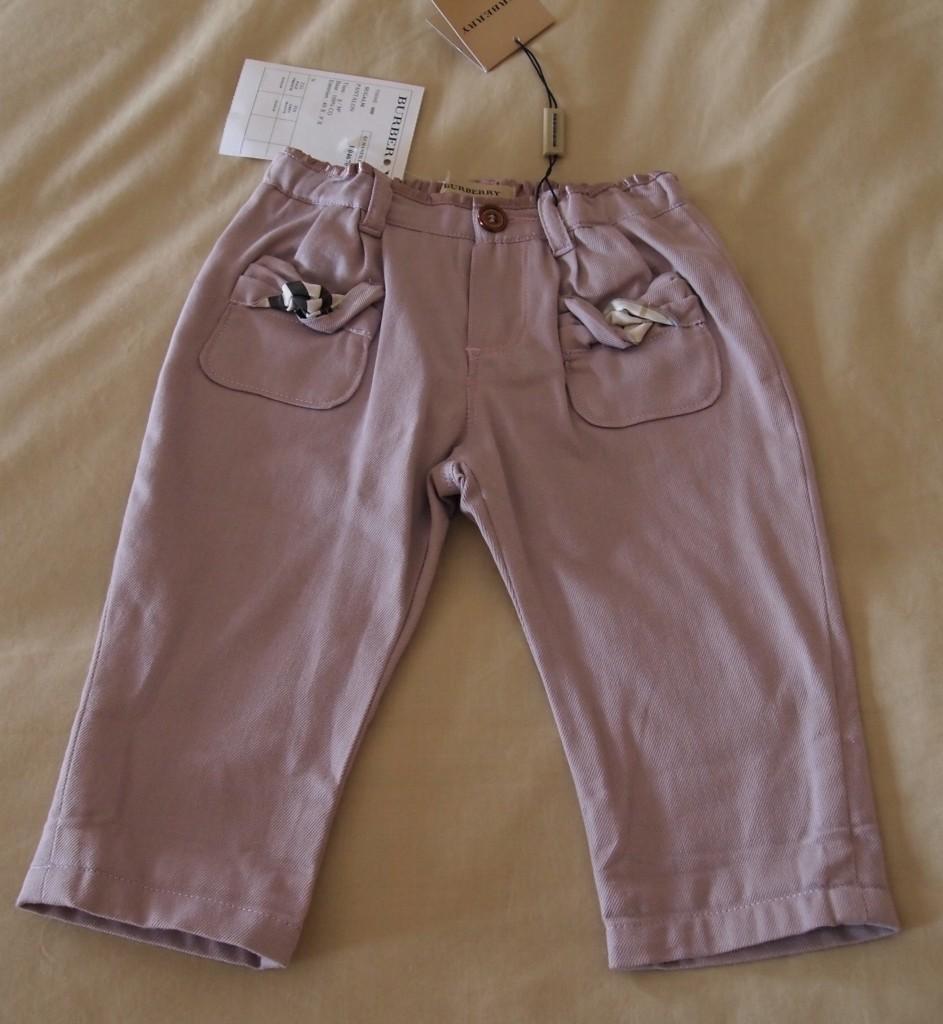 BURBERRY-100-Authentic-Designer-Baby-Girls-Pants-Sz-3-6M-BNWT-195