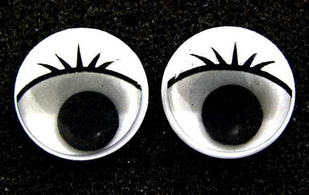 white 15mm lashes wiggle eyes wobbly googly craft b1148 ebay