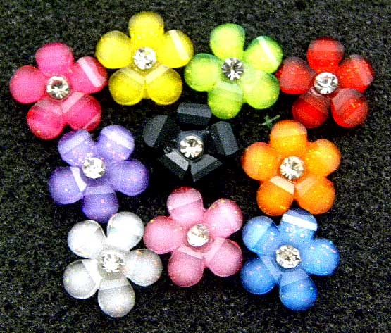 B1207 x60pcs MIXED DAISY FLOWER CHIC FLATBACK SCRAPBOOKING CLIP BOW CRAFT SUPPLY