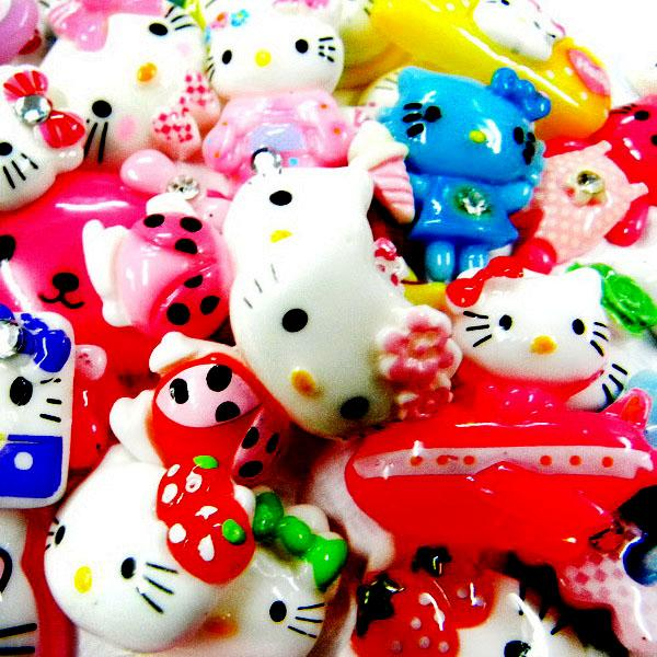 ML005 x Bulk UPICK Hello Kitty Resin Flatback Scrapbooking Bow Clip Craft Cute