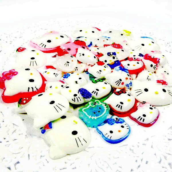 ML039 x Upick Mix Resin Hello Kitty Face Only Bow Flatback Scrapbooking Clip DIY