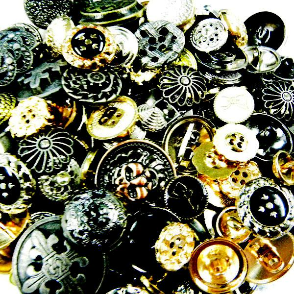 ML073 x Upick Mix Size Style Metal Buttons Chic Sew On Shirt Supplies Craft Lot