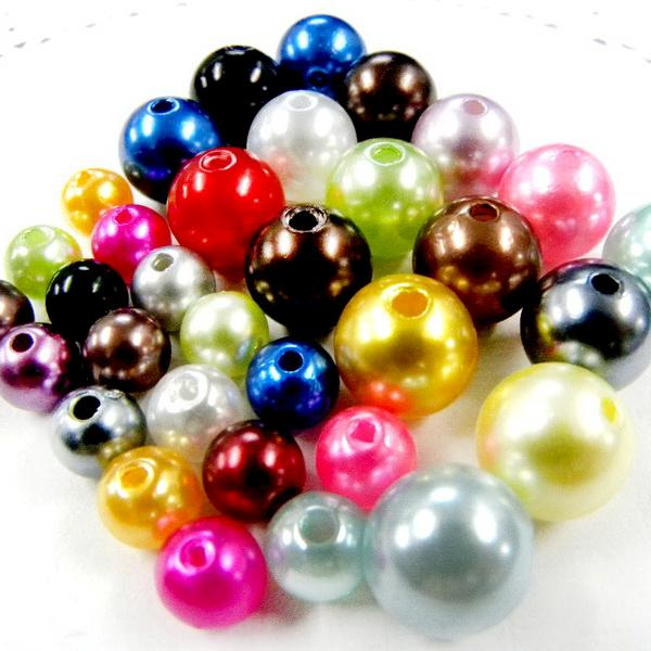 ML083 x Upick Assorted Size Colorful Pearl Style Bead Supplies Craft DIY Decor