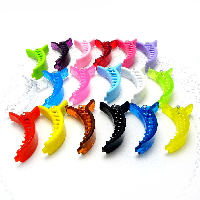 S0141 x 10/30/60 Plastic Colorful Hair Clips Claws Clamps DIY 49mm Accessories