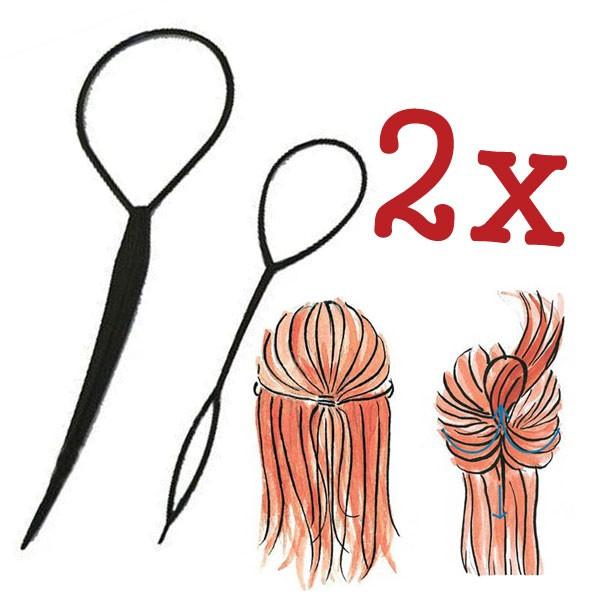 A0141 x 2PCS Topsy Tail Hair Braid Pony Tail Maker Styling Tool Fashion Salon