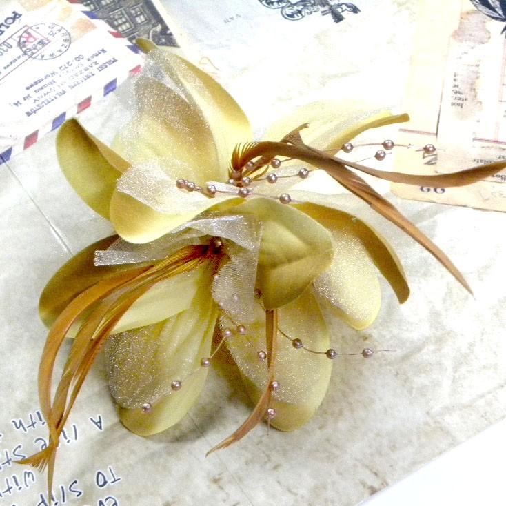 A0815P x Daisy Flower 13CM Vintage Flower Head Hair Clip Brooch Baby Wedding Hot