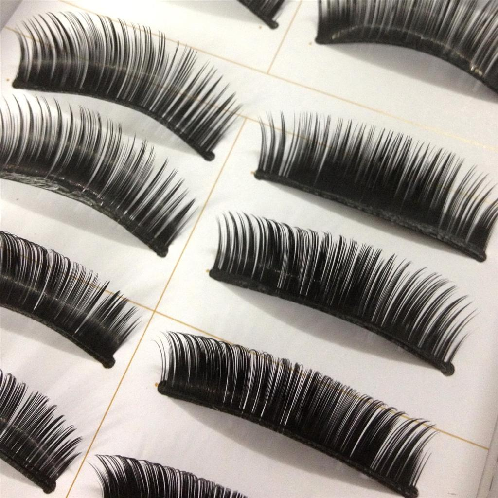 A0671P-x10Pairs-UPICK-Long-Black-Natural-False-Fake-Eyelashes-Lashes-Full-MakeUp thumbnail 5