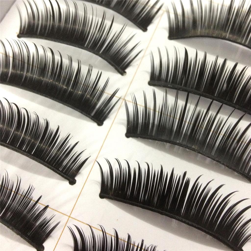A0671P-x10Pairs-UPICK-Long-Black-Natural-False-Fake-Eyelashes-Lashes-Full-MakeUp thumbnail 6