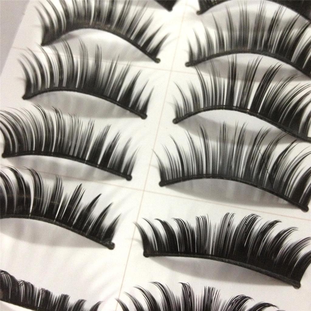 A0671P-x10Pairs-UPICK-Long-Black-Natural-False-Fake-Eyelashes-Lashes-Full-MakeUp thumbnail 9