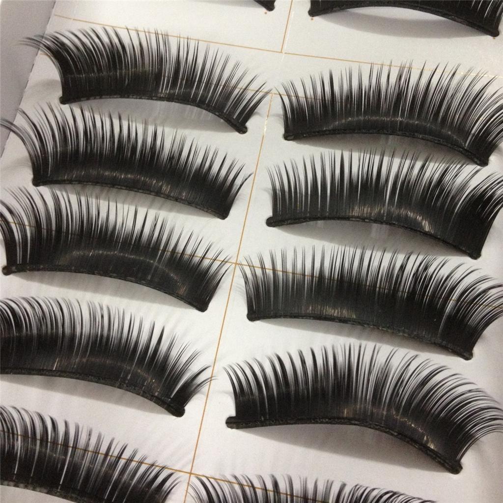 A0671P-x10Pairs-UPICK-Long-Black-Natural-False-Fake-Eyelashes-Lashes-Full-MakeUp thumbnail 10
