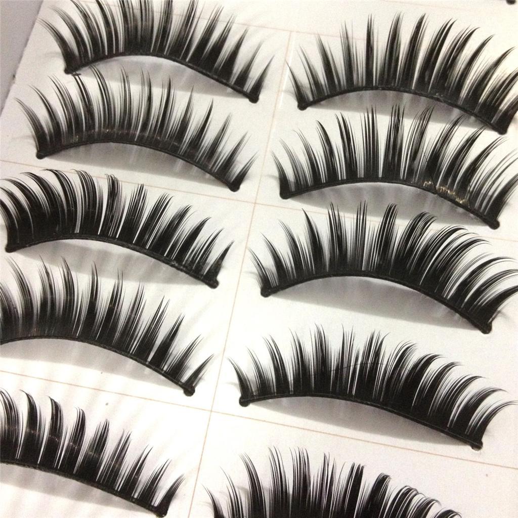 A0671P-x10Pairs-UPICK-Long-Black-Natural-False-Fake-Eyelashes-Lashes-Full-MakeUp thumbnail 12