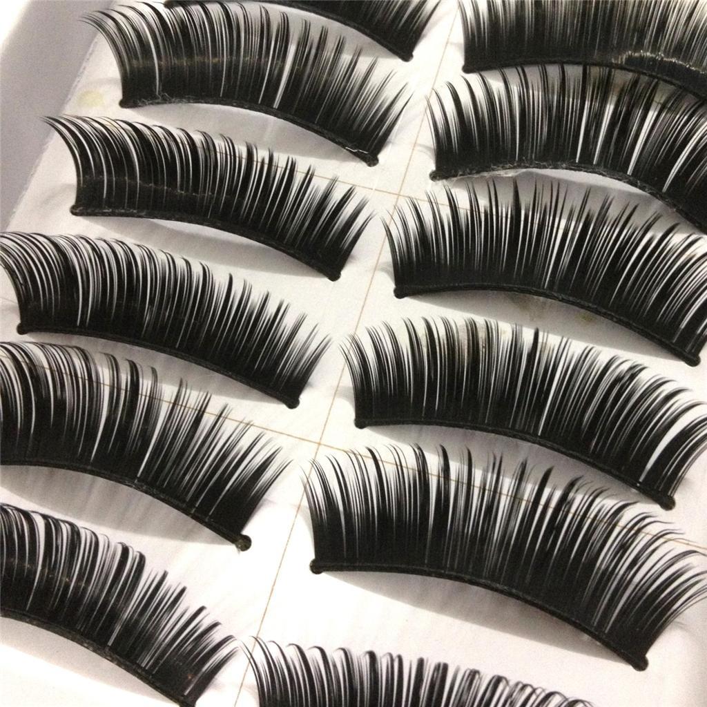 A0671P-x10Pairs-UPICK-Long-Black-Natural-False-Fake-Eyelashes-Lashes-Full-MakeUp thumbnail 13