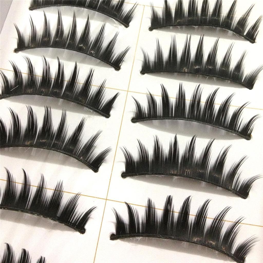 A0671P-x10Pairs-UPICK-Long-Black-Natural-False-Fake-Eyelashes-Lashes-Full-MakeUp thumbnail 18