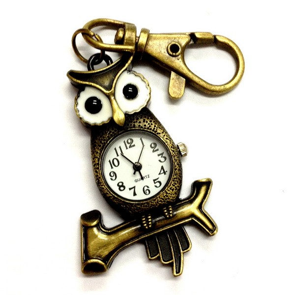 UPICK-NEW-Vintage-Bronze-Retro-Pocket-Key-Ring-Clip-Clasp-Bag-Watch-Quartz-A1455