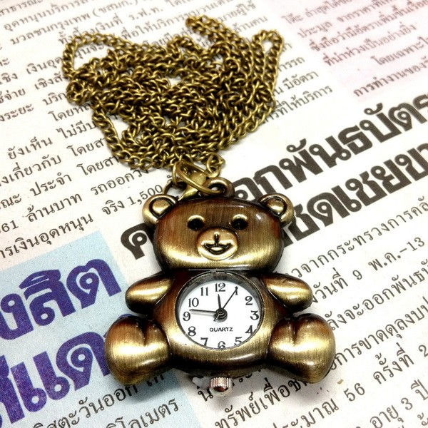 UPICK-Vintage-Bronze-Retro-Pocket-Necklace-Pendant-Girl-Lady-Watch-Quartz-A1456