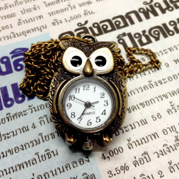 UPICK-Vintage-Bronze-Retro-Pocket-Necklace-Pendant-Girl-Lady-Watch-Quartz-A1456