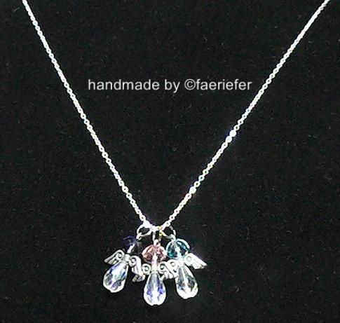 my child children baby family birthstone angels necklace. Black Bedroom Furniture Sets. Home Design Ideas
