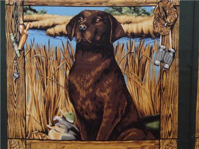 New Hunting Dog Labrador Retrievers Fabric Pillow Panel