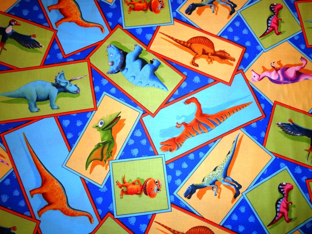 New dinosaur train fabric remnant 30 x 43 buddy kids for Kids dinosaur fabric