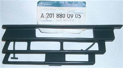 Oe mercedes tow bracket cover fits front bumper grille for Mercedes benz 190e front bumper