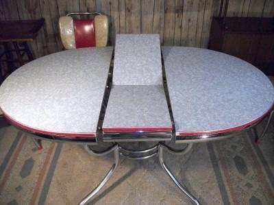 Rare vintage formica chrome retro art deco kitchen table chairs 1950s modern ebay - Vintage chrome kitchen table ...