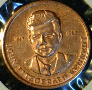 1963 John F_ Kennedy Coin http://www.ebay.com/itm/1963-John-F-Kennedy-JFK-MINI-US-MINT-Commemorative-Bronze-Medal-Token-Coin-/120809850365