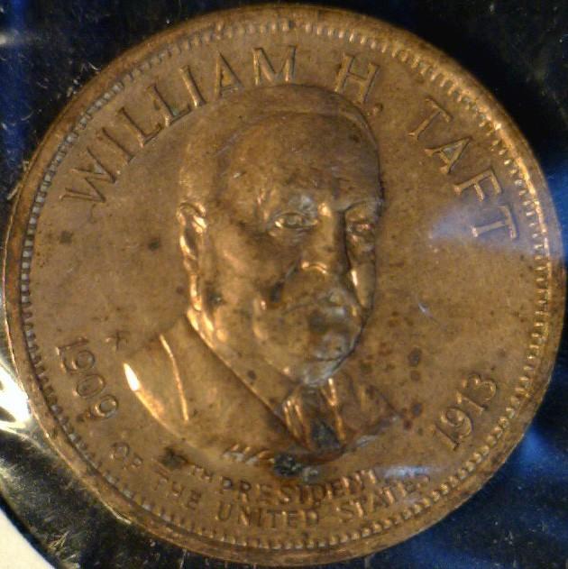 William H. Taft MINT Commemorative Bronze Medal   Token   Coin