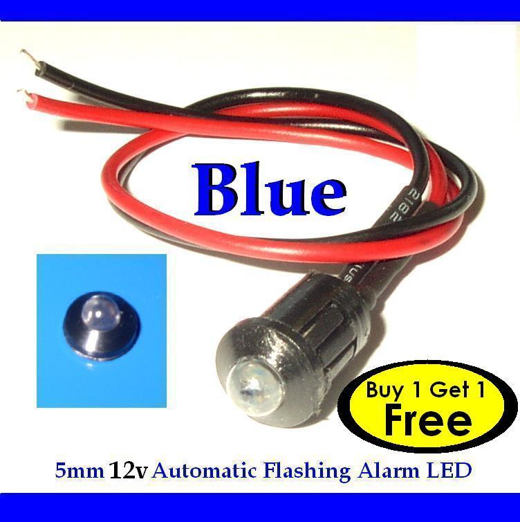 12v blue flashing dummy fake car alarm dash mount led. Black Bedroom Furniture Sets. Home Design Ideas