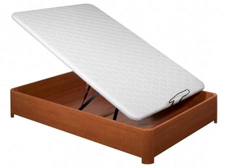Canape abatible gran capacidad en madera cerezo 160x190 ebay for Canape software
